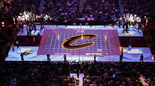 Christie Pandoras Box Drives Interactive Projection for NBA Champion Cavaliers