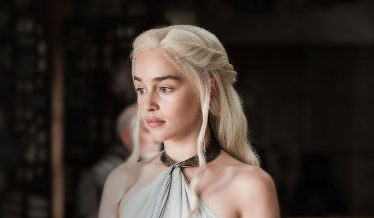 Dany looking sad on Game Of Thrones.