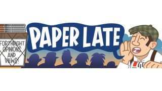 Paper Late cartoon banner