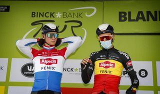 BinckBank Tour 2020 16th Edition 1st stage Blankenberge Ardooie 1321 km 29092020 Mathieu Van Der Poel NED Alpecin Fenix Dries De Bondt BEL Alpecin Fenix photo Tim Van MichelenCor VosBettiniPhoto2020