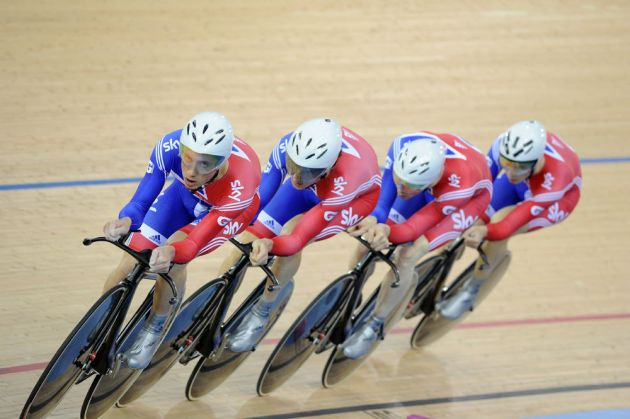 Team GB in team pursuit, London Track World Cup 2012, day four