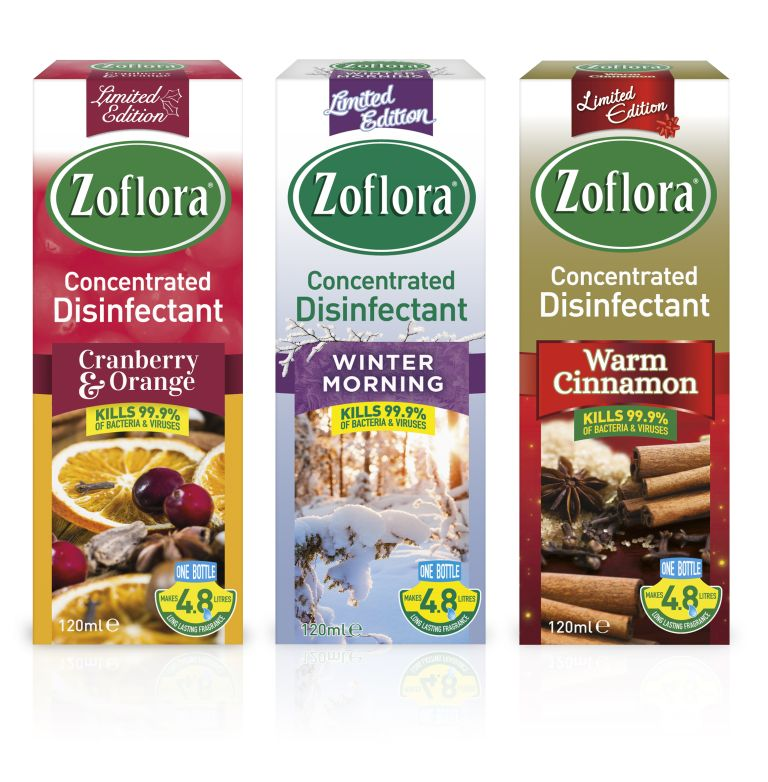 Zoflora Christmas fragrances