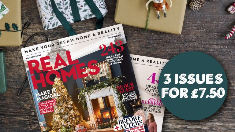 Front covers of Real Homes magazine