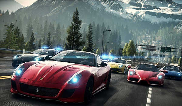 Cars race in Need for Speed