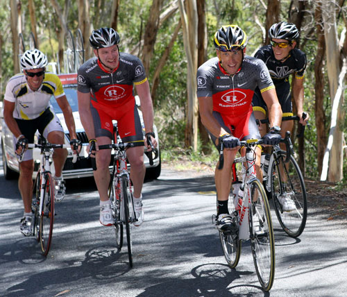 Lance Armstrong, Sebastien Rosseler, Tour Down Under 2010