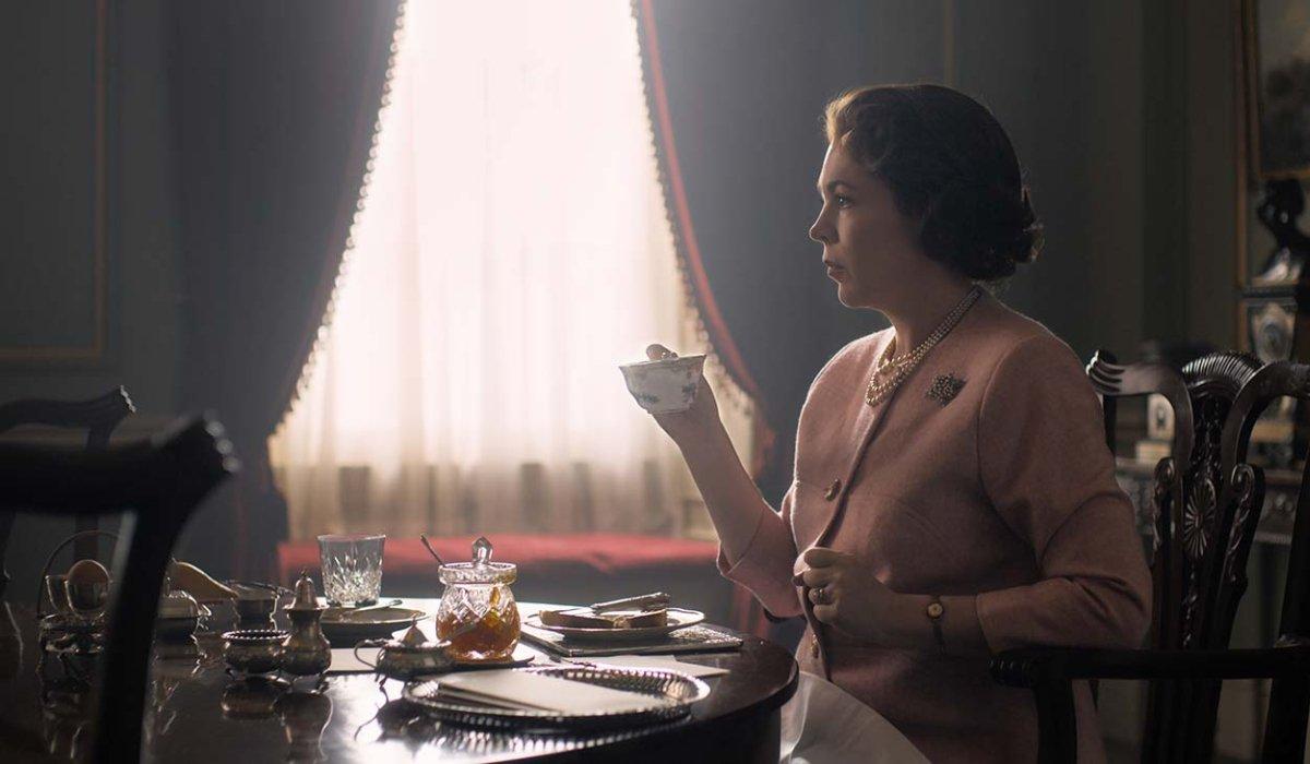 The Crown Olivia Colman having tea and toast