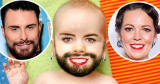 Rylan Clark-Neal & Olivia Colman - baby face