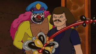 William Murderface and Dr Rockso, the rock 'n' roll clown