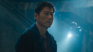 Sung Kang looking very serious as Han in F9