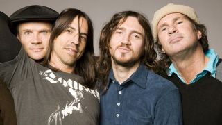 Red Hot Chili Peppers with John Frusciante, second from right