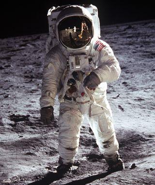 Buzz Aldrin During Moonwalk