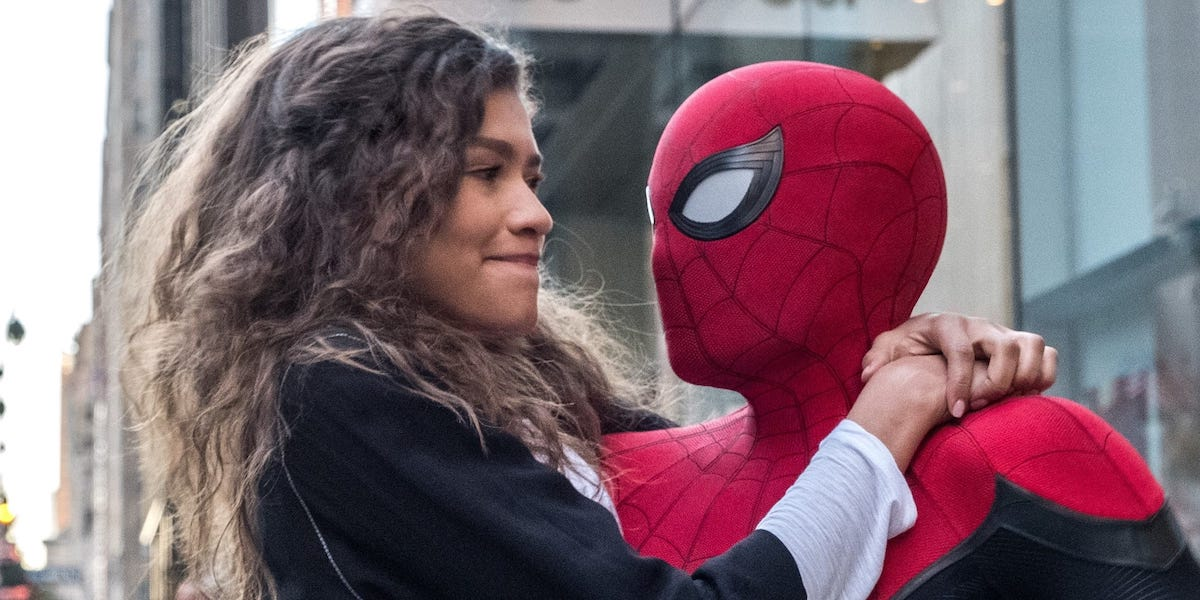 Zendaya and Tom Holland in Spider-Man Far From Home