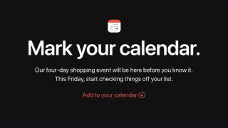 Apple confirms Black Friday sales event