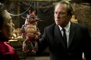 "Tommy Lee Jones Holding ""Spiky Bulba"""