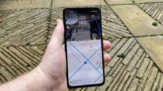 Google Maps on Android split-screen Street View