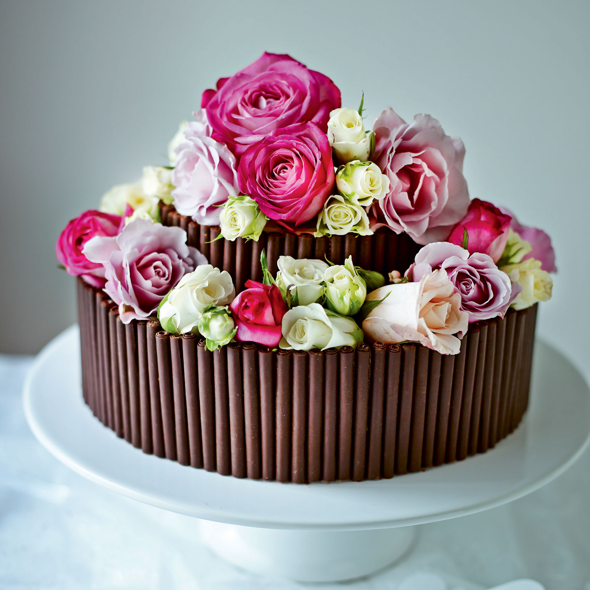 Jo Wheatley S Rose And Chocolate Wedding Cake Dessert Recipes
