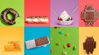 Composite image of sweets used to name Android versions