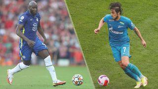 Chelsea vs Zenit St Petersburg live stream — Romelu Lukaku of Chelsea and Sardar Azmoun of Zenit St Petersburg
