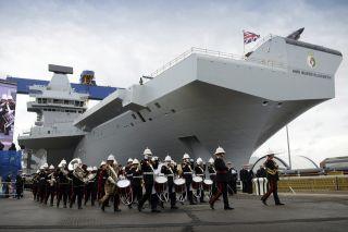 Christening the HMS Queen Elizabeth
