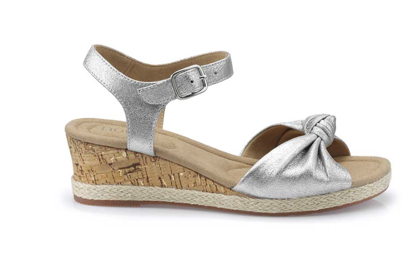 7b14d28ac Available in Soft Silver (pictured), Blood Orange and Citrus Yellow these  stylish sandals feature Hotter's signature microfibre insoles designed to  fit to ...