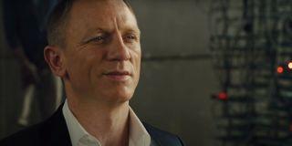 Daniel Craig smirks while being held captive in Skyfall.