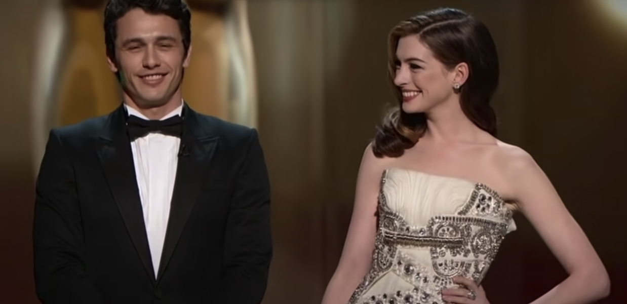 James Franco and Anne Hathaway hosting the 2011 Oscars monologue