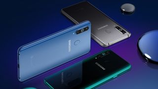 The Samsung Galaxy A8S has three rear cameras