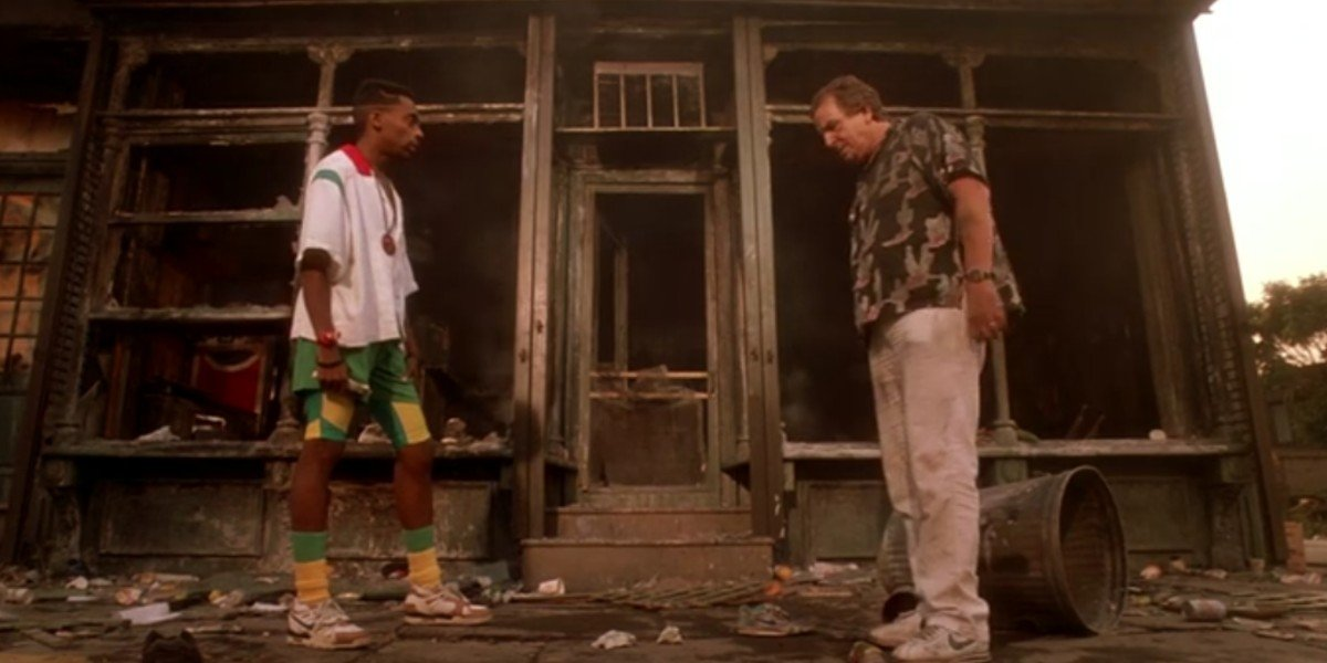 Spike Lee and Danny Aiello in Do the Right Thing