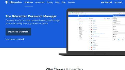 Bitwarden review - Bitwarden's homepage