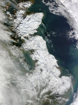 Britain Blanketed in Snow
