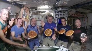Pizza creations on the ISS