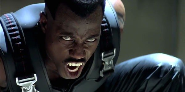 Wesley Snipes' Blade baring his teeth