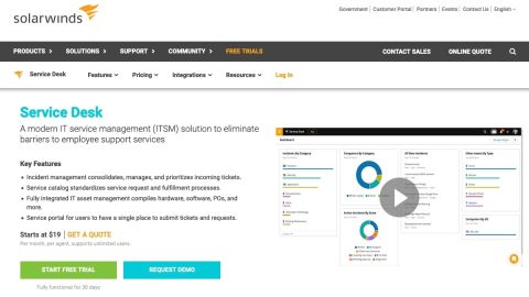 Solarwinds ServiceDesk review