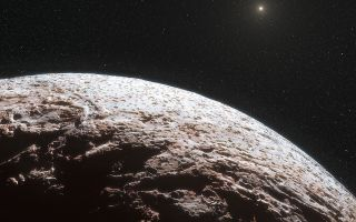 Artist's Impression of Dwarf Planet Makemake