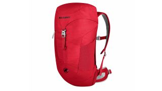 Backpacking essentials: Mammut Creon Tour rucksack in red
