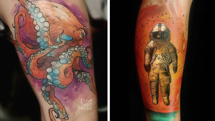 Straight Line Tattoo Artist Uk : Incredible examples of watercolour tattoo art creative bloq