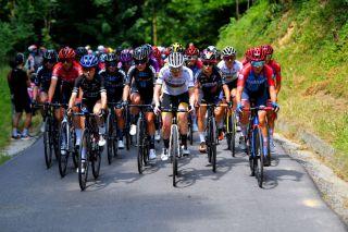 The women's peloton in 2021