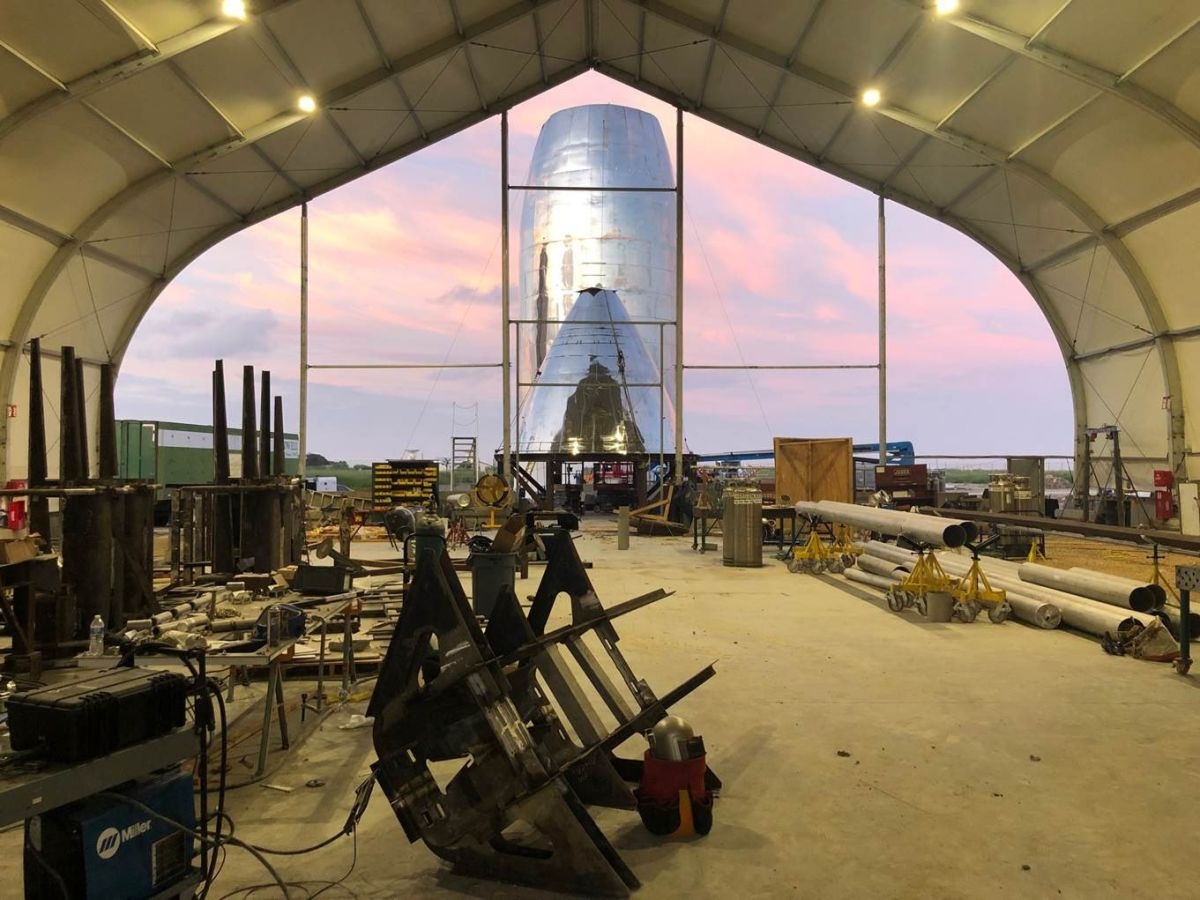 SpaceX's Next Starship Prototype Taking Shape (Photos)