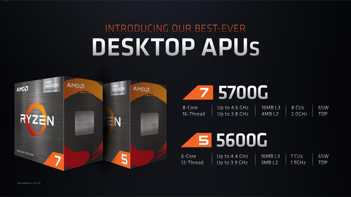 AMD's Ryzen 'Cezanne' Ryzen 7 5700G, 5600G APUs Coming to Retail for Desktop PCs