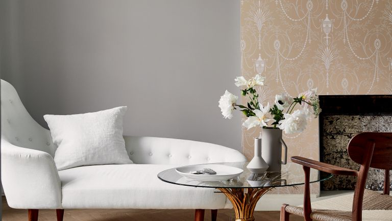 Creative director at Little Greene shares her favorite shade of gray, bedroom with gray paint