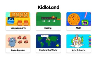 screenshot of educational games