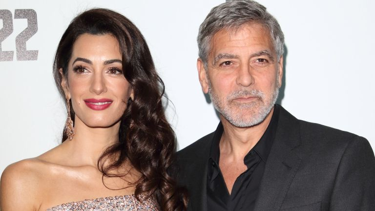 Amal Clooney and George Clooney attend the Catch 22 - TV Series premiere at the Vue Westfield, Westfield Shopping Centre, Shepherds Bush