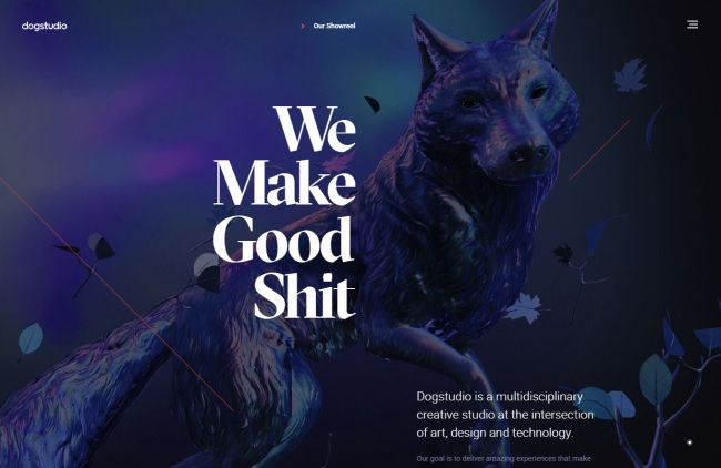 8 attention-grabbing studio sites: Dogstudio