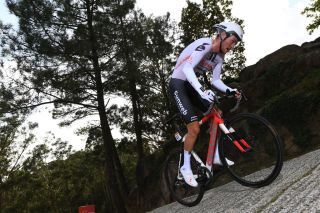 MIRADOR DE ZARO DUMBRA SPAIN NOVEMBER 03 Robert Power of Australia and Team Sunweb during the 75th Tour of Spain 2020 Stage 13 a 337km Individual Time Trial stage from Muros to Mirador de zaro Dumbra 278m ITT lavuelta LaVuelta20 La Vuelta on November 03 2020 in Mirador de zaro Dumbra Spain Photo by David RamosGetty Images