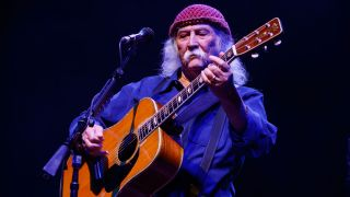 David Crosby performs at O2 Shepherd's Bush Empire on September 16, 2018 in London, England.