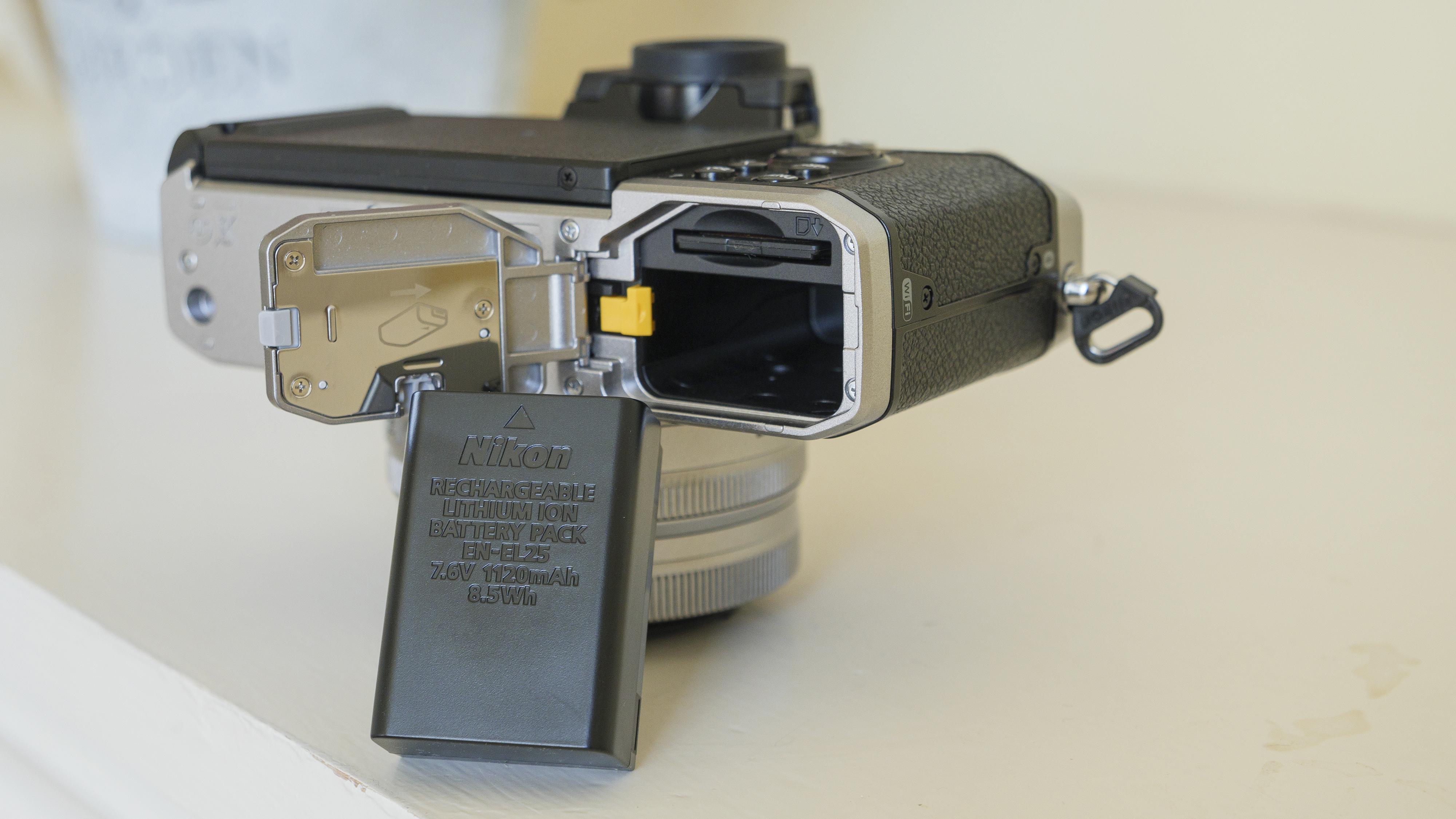 The battery of the Nikon Z fc camera