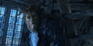 The Beast scowling in Beauty and the Beast