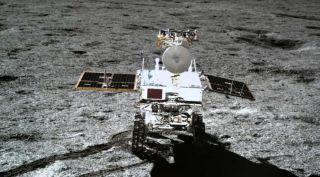 The 140-kilogram Chang'e-4 mission rover Yutu-2.