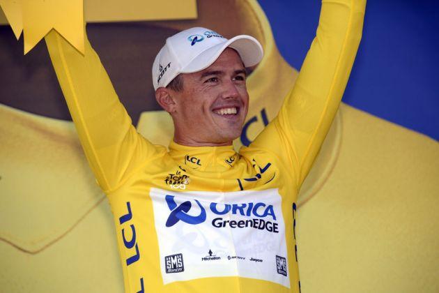 Simon Gerrans in race lead, Tour de France 2013, stage four TTT
