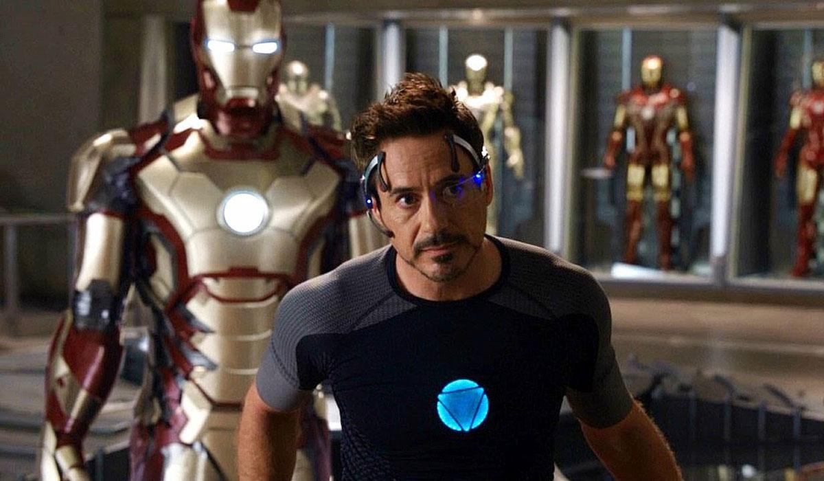Tony Stark looking serious.